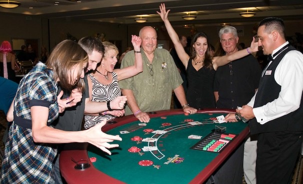 Clients of Seattle Casino Party having fun at their private event!